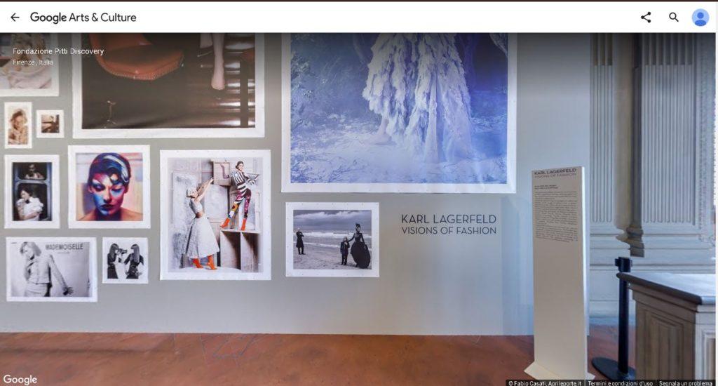 Tour virtuale google mostra Karl Lagerfeld Galleria Palatina Palazzo Pitti Firenze