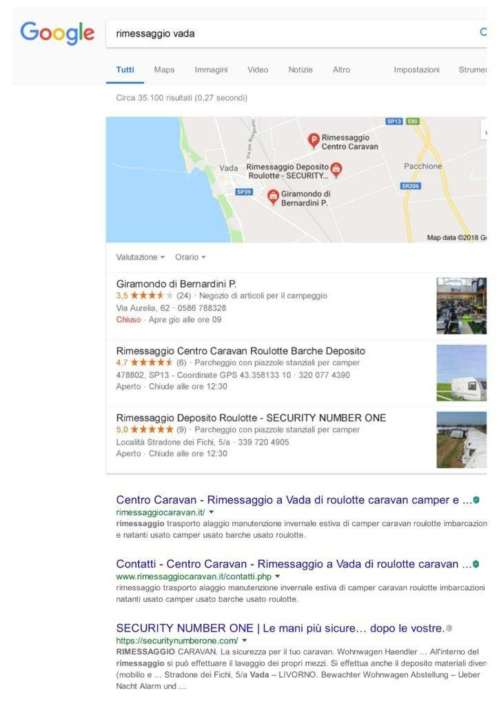 Risultati ricerca su Google