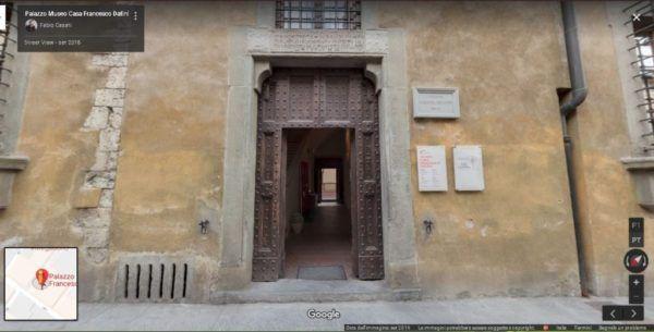 Ingresso Virtual Tour realizzato da Palazzo Museo Casa Francesco Datini