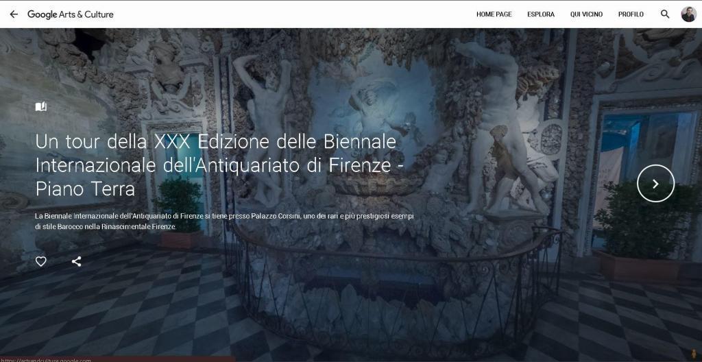 Tour Virtuale Google Arts Culture Biennale Antiquariato di Firenze - Fabio Casati
