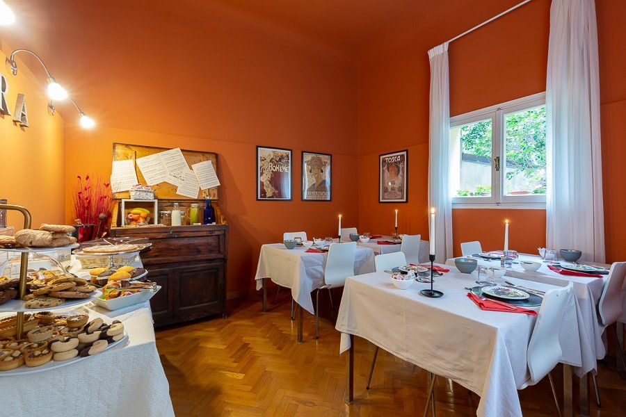 Romantica sala colazione a Firenze.